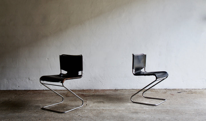 1960'S BISCIA CHAIRS BY PASCAL MOURGUE