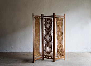 MIDCENTURY ROPE ROOM DIVIDER
