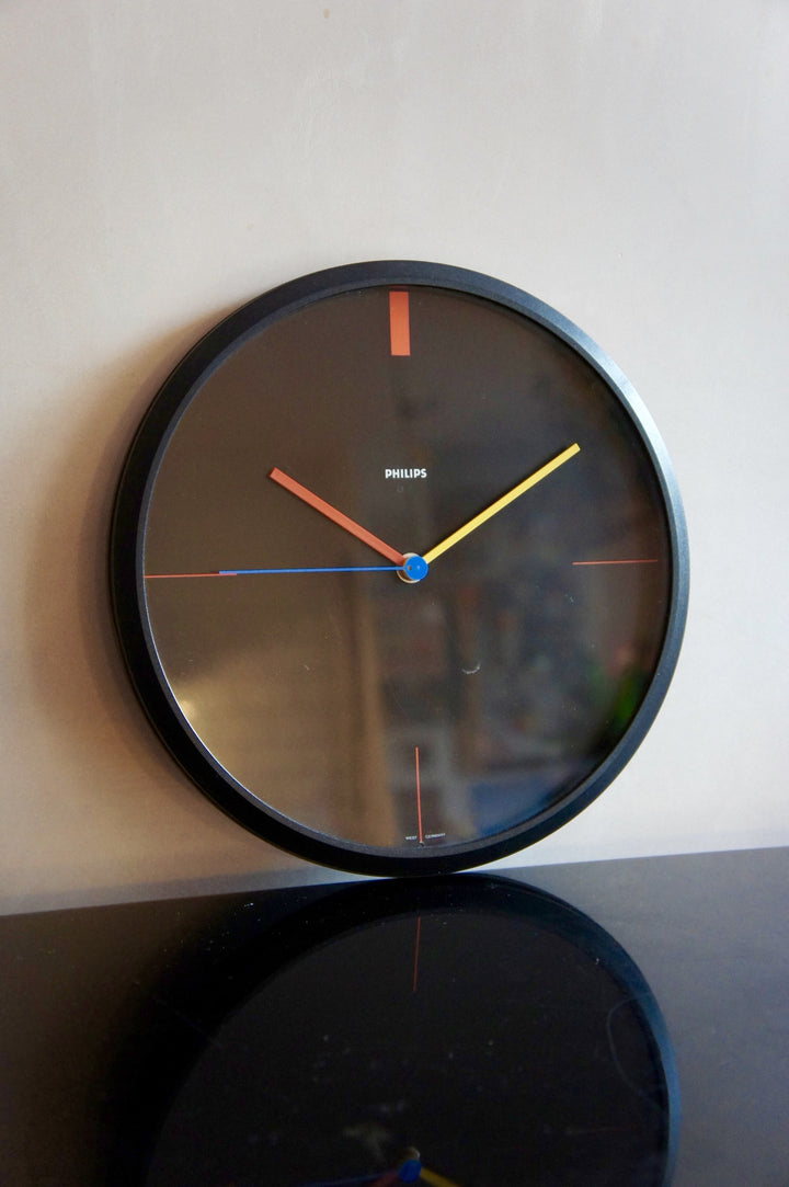 1980'S WEST GERMAN PHILLIPS WALL CLOCK