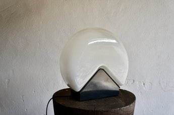 MURANO GLASS TABLE LAMP BY ROBERT PAMIO FOR LEUCOS, 1970'S