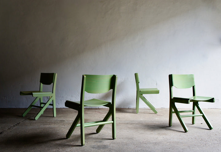 JOMAIN BAUMANN PLYWOOD CHAIRS, 1960'S