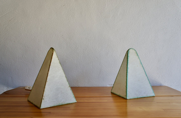 1960'S PYRAMID LAMPS BY FRITZ WAUER FOR GOLDKANT LEUCHTEN