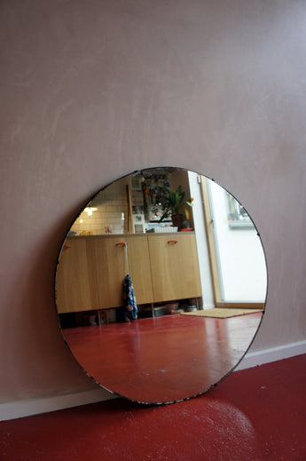 LARGE CIRCULAR ART DECO MIRROR
