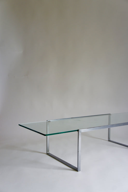 1960'S GLASS MINIMALIST COFFEE TABLE