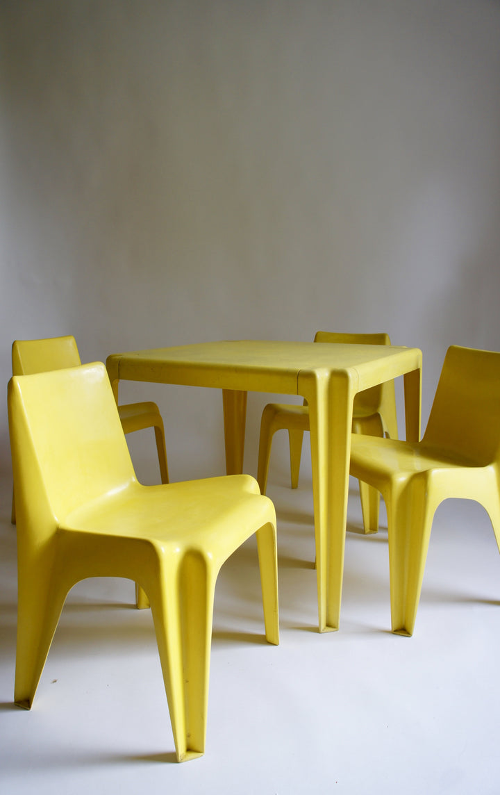 BOFINGER DINING SET DESIGNED BY HELMUT BATZNER