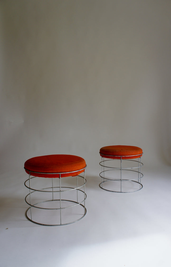 WIRE STOOLS AFTER VERNER PANTON