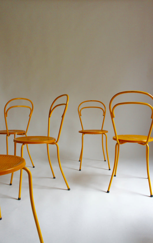 SET OF 6 MID CENTURY GROSFILLEX CHAIRS