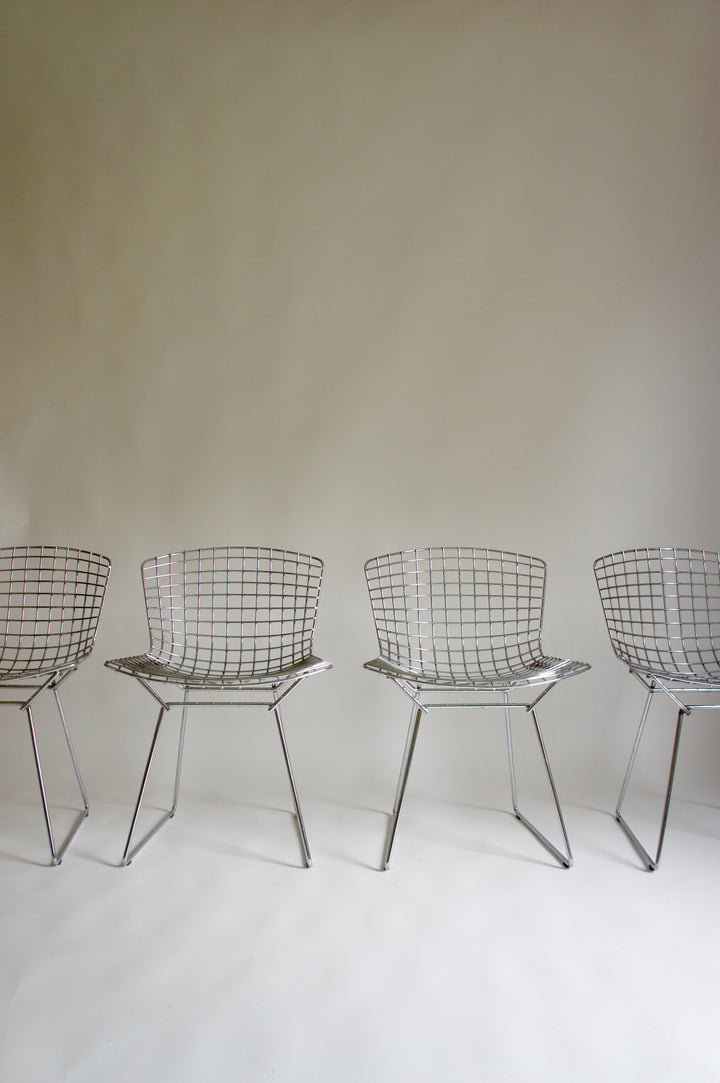 SET OF 4 BERTOIA DINING CHAIRS BY KNOLL