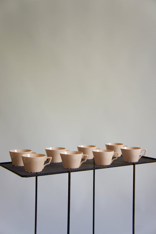 SET OF 8 FRENCH DIGOIN SARREGUEMINES COFFEE CUPS