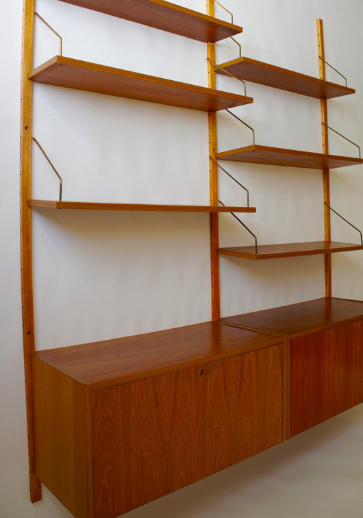 1960'S DANISH PS SYSTEM SHELVING BY PREBEN SORENSEN