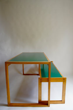 1970'S HEALS DINING TABLE & BENCH