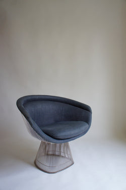 1970'S WARREN PLATNER LOUNGE CHAIR BY KNOLL