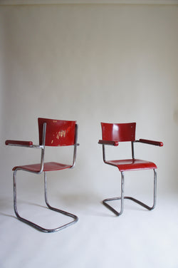 2 x MODERNIST CANTILEVER CHAIRS 1930 - 50'S