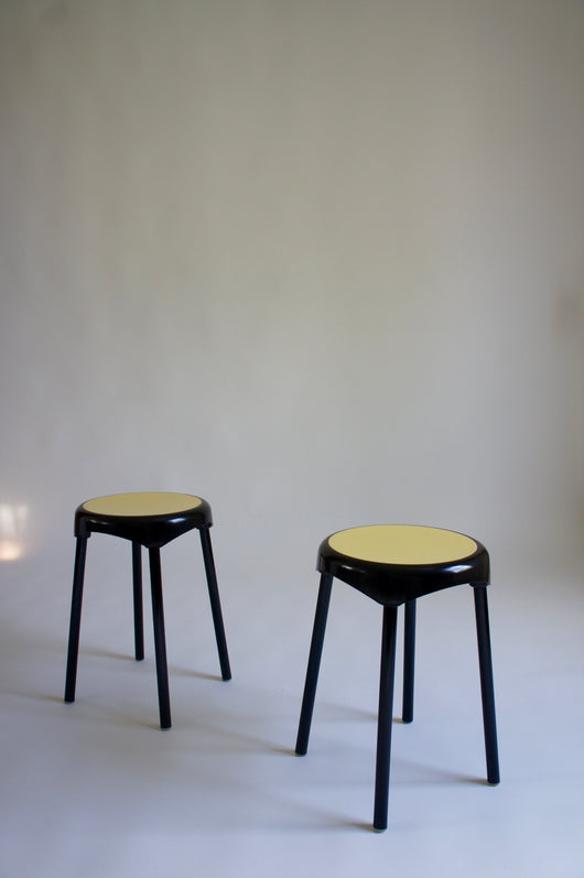 PAIR OF 1960'S STOOLS