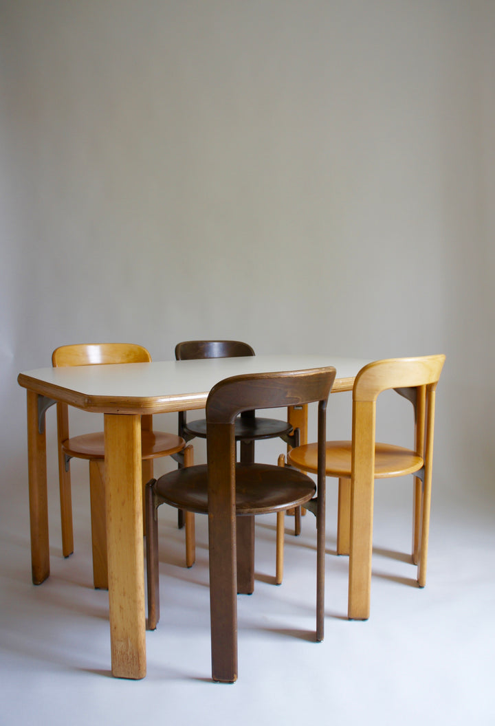 BRUNO REY DINING TABLE & CHAIRS 1971