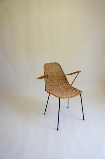 1950'S BASKET ARMCHAIR BY GIAN FRANCO LEGLER