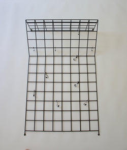 WIRE COAT RACK BY KARL FICHTEL FOR DRAHTWERKE ERLAU