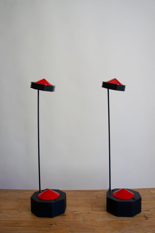 A PAIR OF POSTMODERN TABLE LAMPS