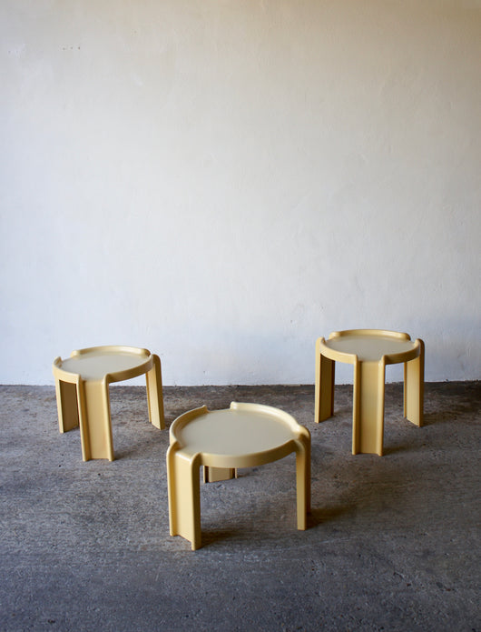 1960'S KARTELL NESTING TABLE SET BY GIOTTO STOPPINO