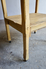 FRENCH SIDE TABLE & SHELF