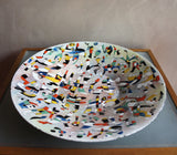 "RICHARD CASEY 1980'S ""BIRD SONG"" ENAMEL BOWL"