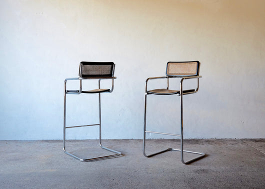 Excellent Pair Of Cesca Style Cantilever Bar Stools Punch The Clock Pdpeps Interior Chair Design Pdpepsorg