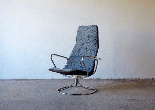 1980'S POSTMODERN SWIVEL CHAIR