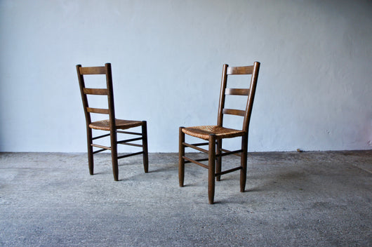 PAIR OF 1950'S CHARLOTTE PERRIAND NUMBER 19 CHAIRS