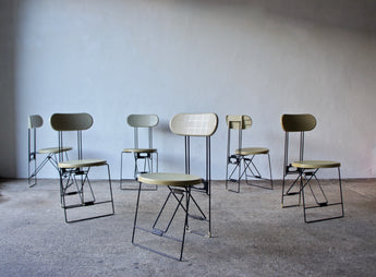 SET OF 6 CRICKET CHAIRS BY ANDRIES VAN ONCK FOR MAGIS 1983