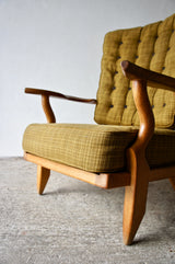 1960'S GUILLERME ET CHAMBRON HIGH BACK ARMCHAIR
