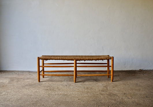 PERRIAND STYLE WICKER BENCH