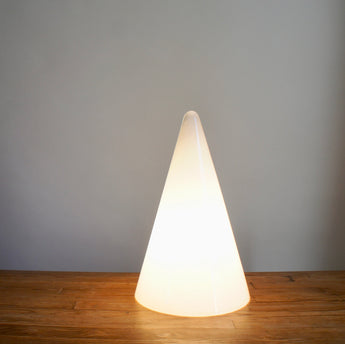 1970'S SCE FROSTED GLASS TEEPEE LAMP