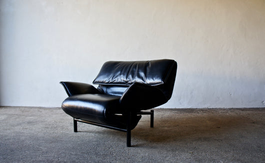 LEATHER VERANDA CHAIR BY VICO MAGISTRETTI FOR CASSINA