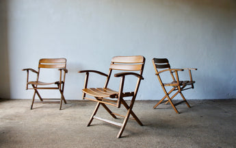 1940'S SOLLINGER FOLDING ARMCHAIRS
