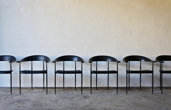 6 P40 CHAIRS BY GIANCARLO VEGNI FOR FASEM