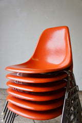 6 FIBREGLASS EAMES DSS CHAIRS BY HERMAN MILLER 1976