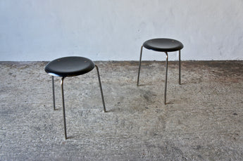 PAIR OF 1950'S FRITZ HANSEN 3170 STOOLS