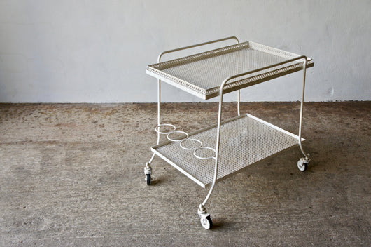 1950'S MATHIEU MATEGOT STYLE DRINKS TROLLEY
