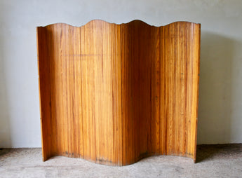 EARLY 20TH CENTURY TAMBOUR SCREEN ROOM DIVIDER