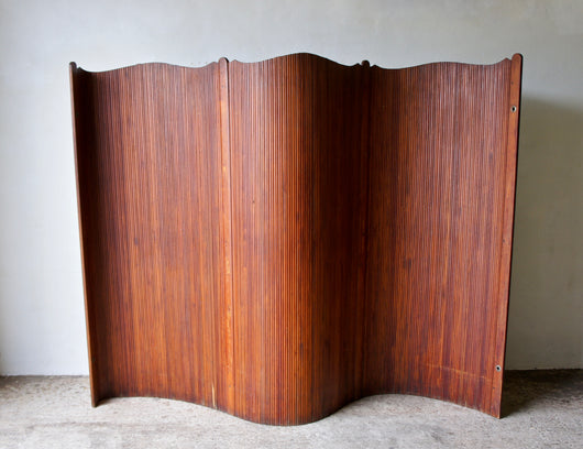 ART DECO FRENCH TAMBOUR SCREEN ROOM DIVIDER