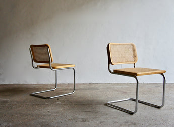 A PAIR OF CANTILEVER CESCA CHAIRS