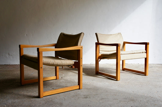 A PAIR OF DIANA SAFARI CHAIRS BY KARIN MOBRING