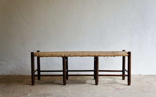 PERRIAND STYLE RUSH BENCH