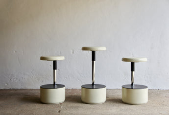SET OF 3 1960'S GOLF STOOLS BY ROBERTO LUCCI & PAOLO ORLANDINI FOR VELCA