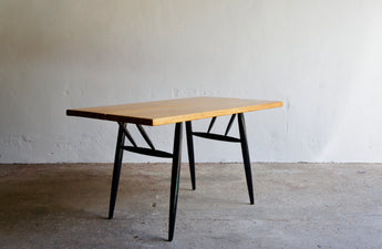 1950'S PIRKKA DINING TABLE BY ILMARI TAPIOVAARA FOR LAUKAAN PUU