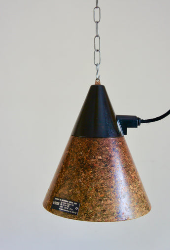 INDUSTRIAL GERMAN FIBRE PENDANT LAMPS