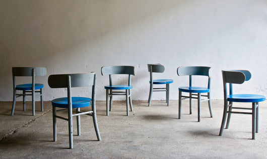 A SET OF 6 1930'S W1 WERNER WEST CHAIRS FOR WILHELM SCHAUMAN