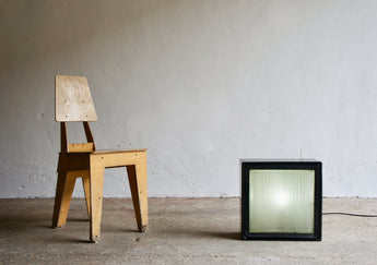 GLASS SQUARE SALVAGE LAMP