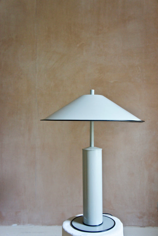 1970'S LARGE MODERNIST DUTCH METAL LAMP
