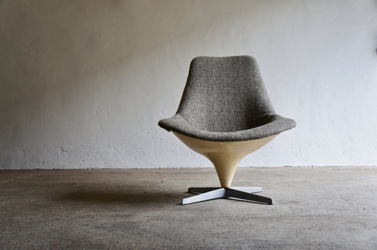 1960'S LURASHELL SWIVEL CHAIR